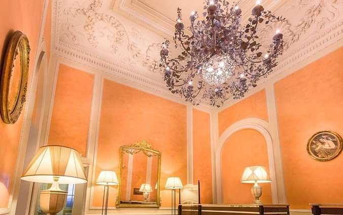 Lounge van Hotel La Fortezza in Florence