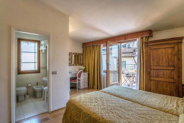 Tweepersoonskamer van Hotel Atlantic Palace in Florence