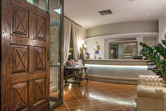 Receptie van Hotel Atlantic Palace in Florence