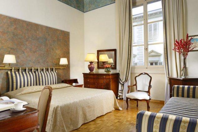 Tweepersoonskamer van Hotel Kraft in Florence