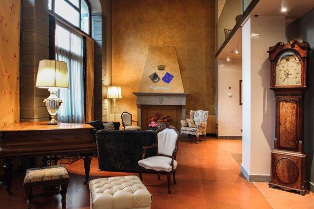 Lounge van Hotel Kraft in Florence