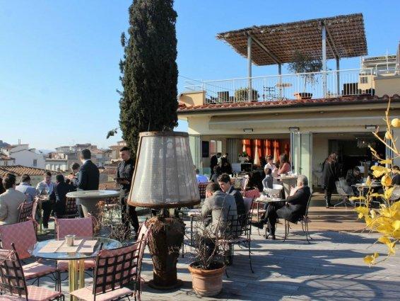 Terras van Hotel Kraft in Florence