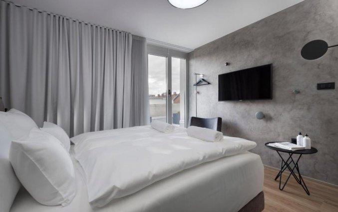 Tweepersoonskamer van Hotel Central in Ljubljana