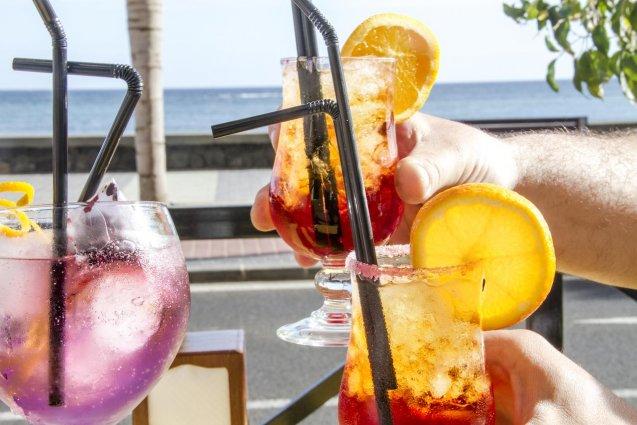 Drankje bij Hotel Diamar op Lanzarote