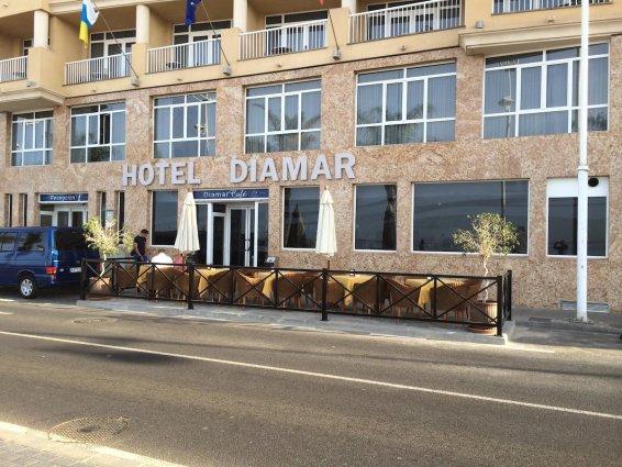 Exterieur van Hotel Diamar op Lanzarote