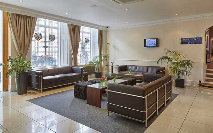 Lobby van Hotel Lancaster Gate in Londen
