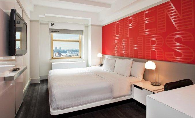 Tweepersoonskamer van Hotel Row NYC