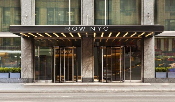 Ingang van Hotel Row NYC
