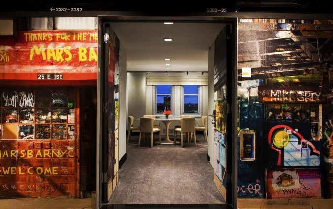 Kamer van Hotel Row NYC