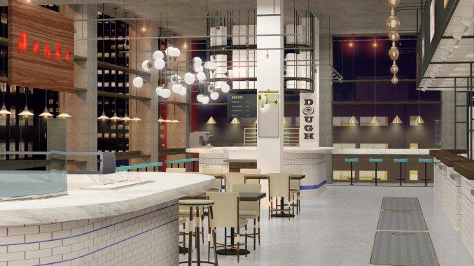 Restaurant van Hotel Row NYC