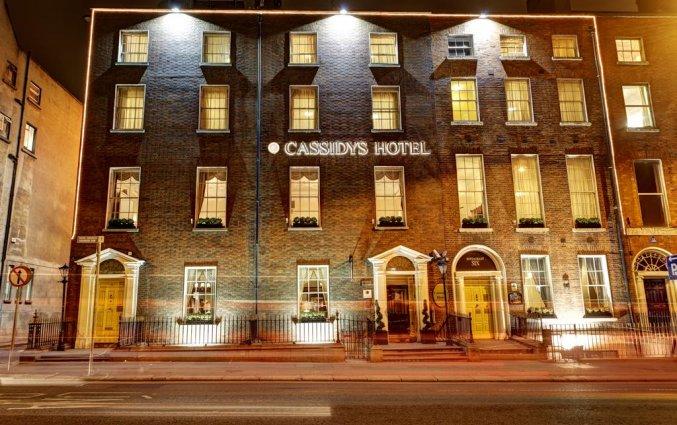 Vooraanzicht van Hotel Cassidys in Dublin