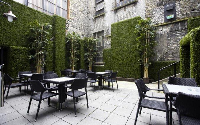 Terras van Hotel Temple Bar Inn in Dublin