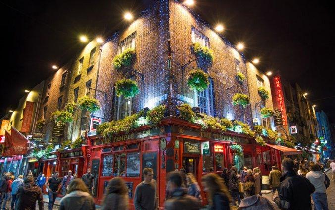 Dublin - Temple Bar met kerst