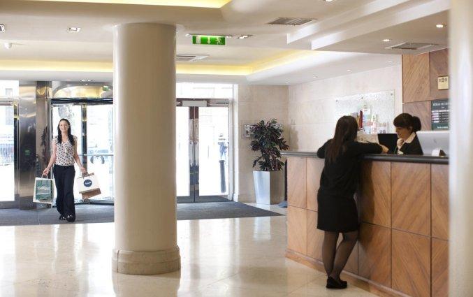 Receptie van Hotel Academy Plaza in Dublin