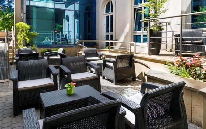 Terras van hotel Best Western Plus Kraków Old in Krakau