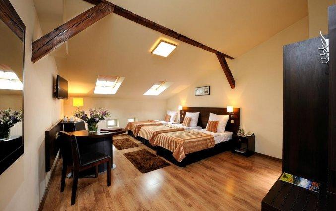 Tweepersoonskamer van Hotel Spatz in Krakau