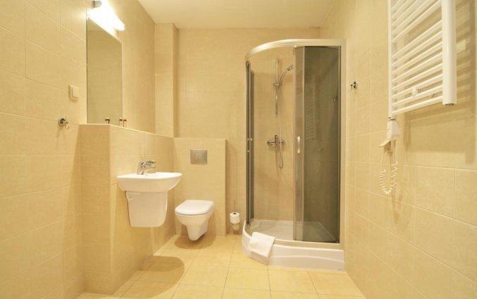 Badkamer van een tweepersoonskamer van Hotel Spatz in Krakau