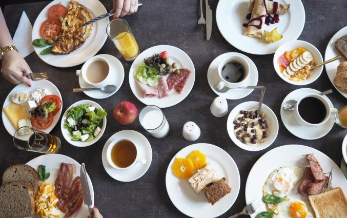 Ontbijt van Hotel Spatz in Krakau