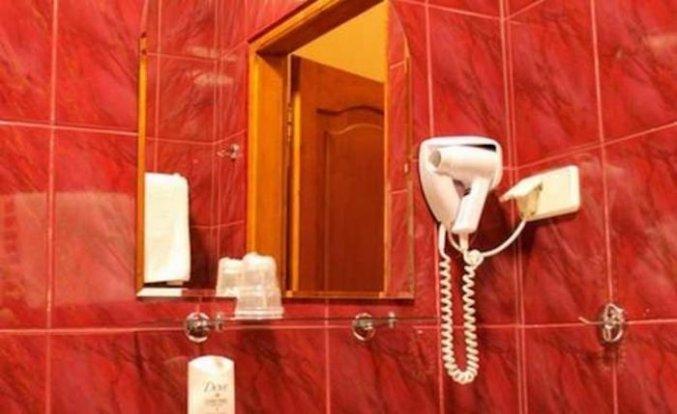 Badkamer van een tweepersoonskamer van Hotel Regent in Krakau