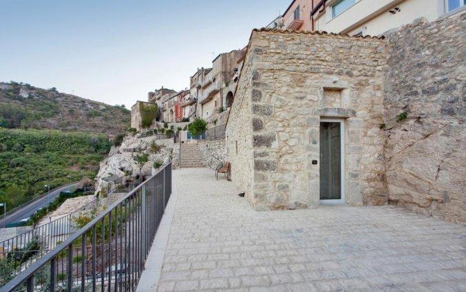 Gebouw van Hotel San Giorgio Palace op Sicilië