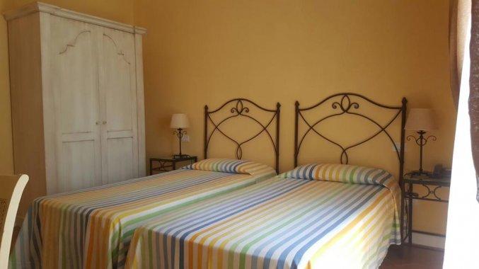 Tweepersoonskamer van Hotel Etna op Sicilië