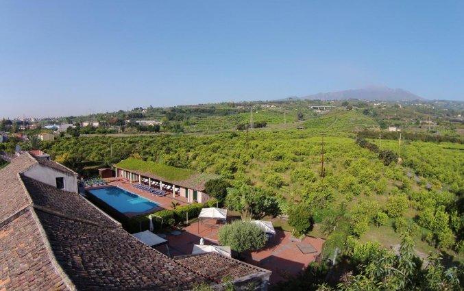 Bovenaanzicht van Hotel Etna op Sicilië