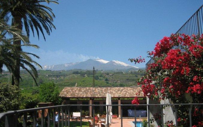 Uitzicht van Hotel Etna op Sicilië