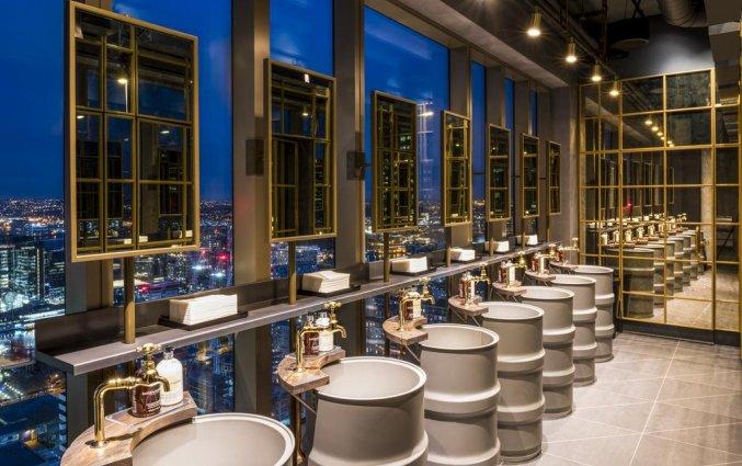 Toiletten van Hotel Novotel Canary Wharf in Londen