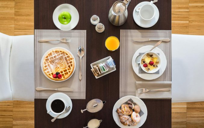 Ontbijt van hotel Hilton Garden Inn Venice Mestre San Giuliano in Venetie