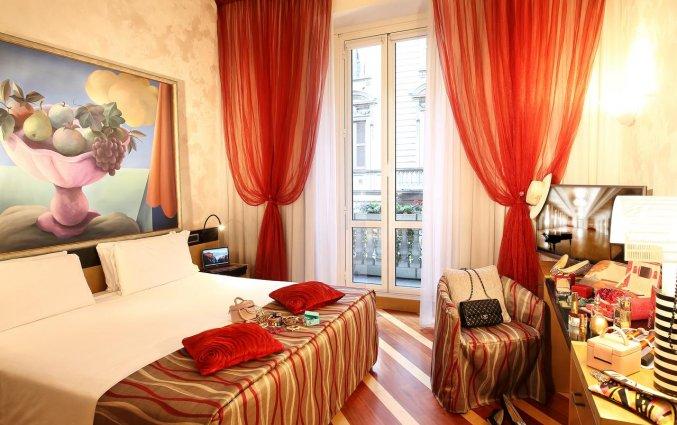 Tweepersoonskamer van Hotel Sanpi Milaan