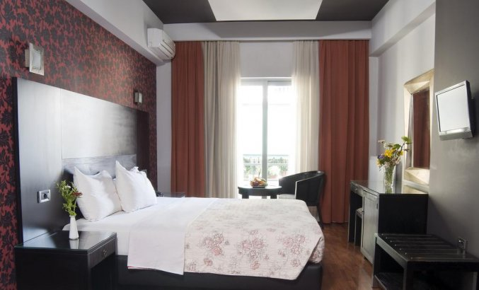 Tweepersoonskamer van Hotel Areos in Athene