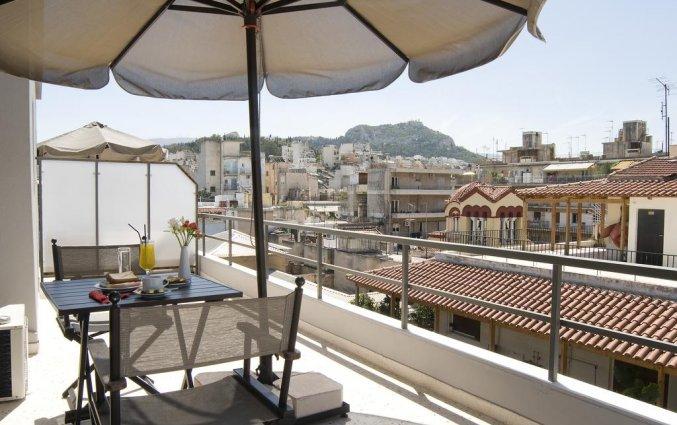 Dakterras met uitzicht van Hotel Areos in Athene
