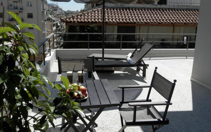 Dakterras van Hotel Areos in Athene
