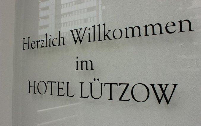 Welkomstbord hotel Lützow  Berlijn