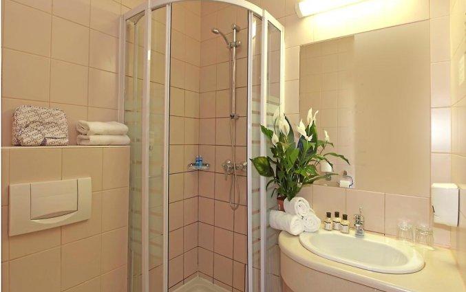 Badkamer van een tweepersoonskamer van Hotel Pilvax in Budapest