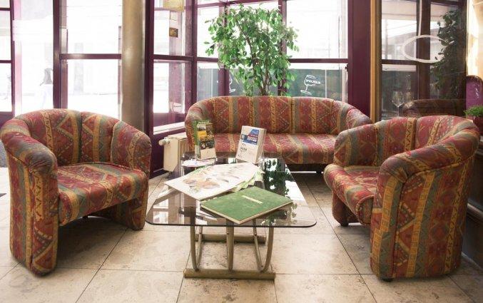 Zithoek van Hotel Pilvax in Budapest