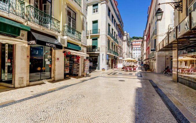 Straat van Hotel LX Rossio in Lissabon