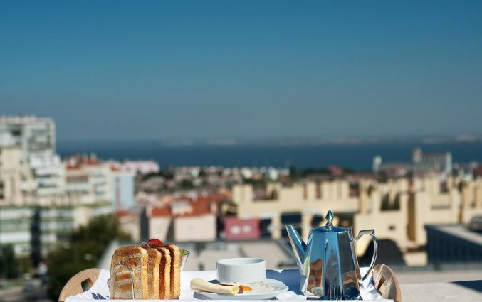 Uitzicht van Hotel Dom Afonso Henriques in Lissabon
