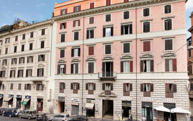 Voorkant van hotel Solis in Rome