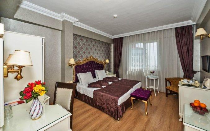 Tweepersoonskamer van hotel Santa Sophia in Istanbul