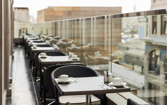 Terras van Hotel Manesol Boutique Galata in Istanbul