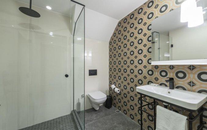 Badkamer van een tweepersoonskamer van Hotel Fitas Oda Beyoğlu in Istanbul