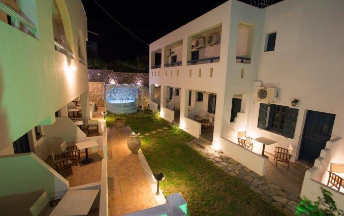 De binnen plaats van Hotel Iliada Santorini