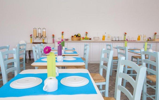 Het restaurant van Hotel Iliada Santorini