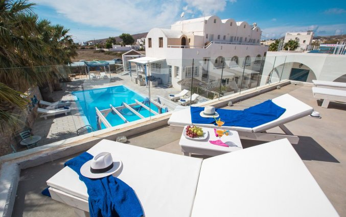 Dakterras van Hotel Iliada Santorini