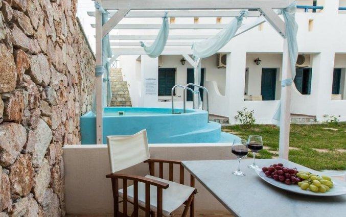 De jakuzi van Hotel Iliada Santorini
