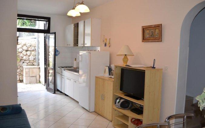 Keuken van een appartement van Appartementen Lia in Dubrovnik