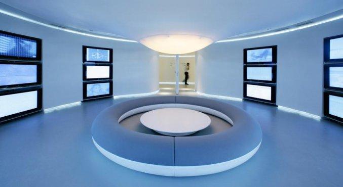 Openbare ruimte van Hotel Puerta America in Madrid