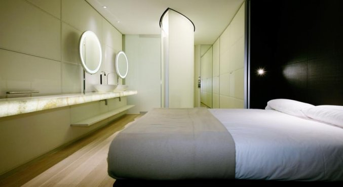 Tweepersoonskamer van Hotel Puerta America in Madrid