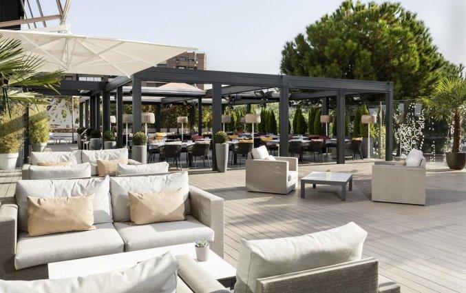Terras van Hotel Puerta America in Madrid